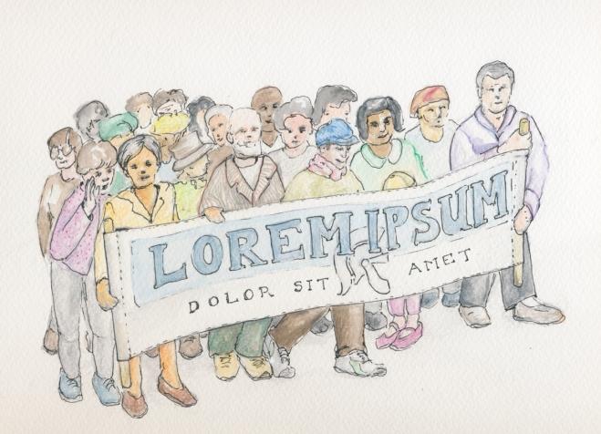 Lorem Ipsum : concept drawing
