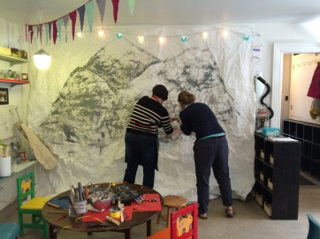 making mountains at Wonder'neath