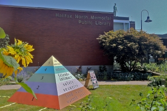 The Vision awaits at theNorth branch public library lawn